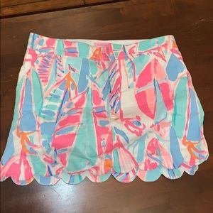 Lilly Pulitzer Sailboat Skort
